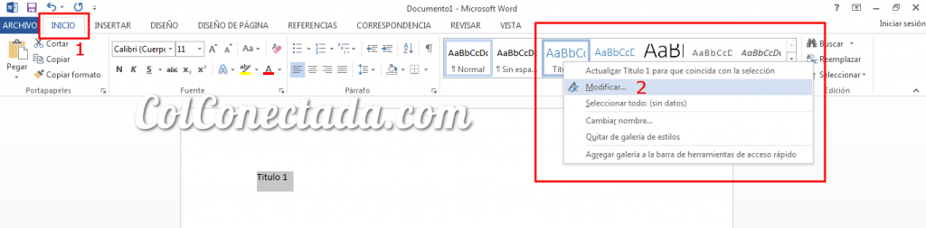 Personalizar estilos de títulos en Word con las Normas APA