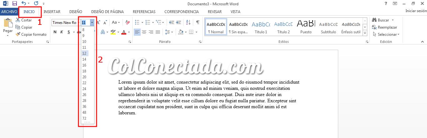 Cambiar tamaño de la letra en Word con las Normas APA