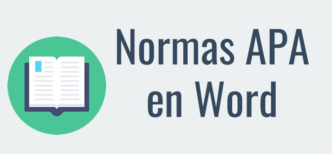 Cómo usar las normas APA en Word