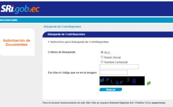 Consultar el RUC por Internet