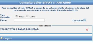 Consultar valor SPPAT