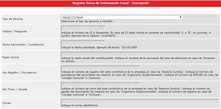 Registro Único de Información Fiscal