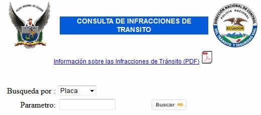 Consultar multas por Internet