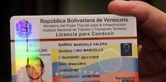 Licencia para conducir en Venezuela