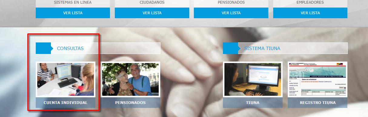 Sitio web del IVSS