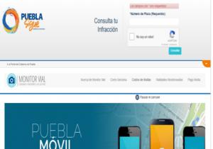 Infracciones de tránsito en Puebla México