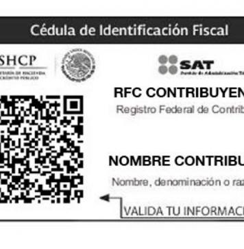 Cédula de Identificación Fiscal RFC