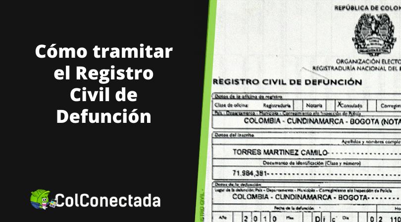 Registro civil de defunción en Colombia 15