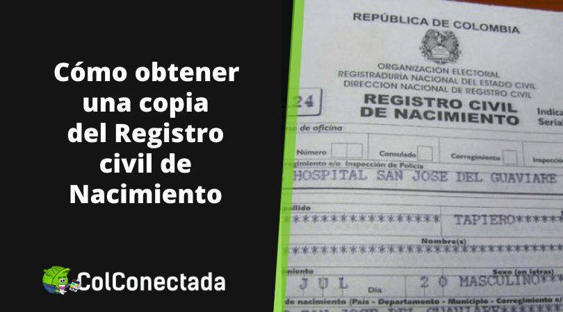 Registro civil de nacimiento en Colombia 16