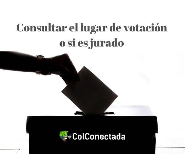 consultar dónde votar y jurado de votación