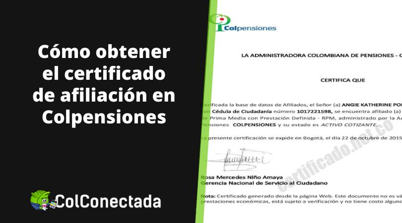 Certificado de afiliación Colpensiones en línea 8