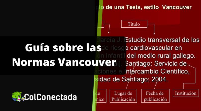 Normas Vancouver para la presentación de documentos 5