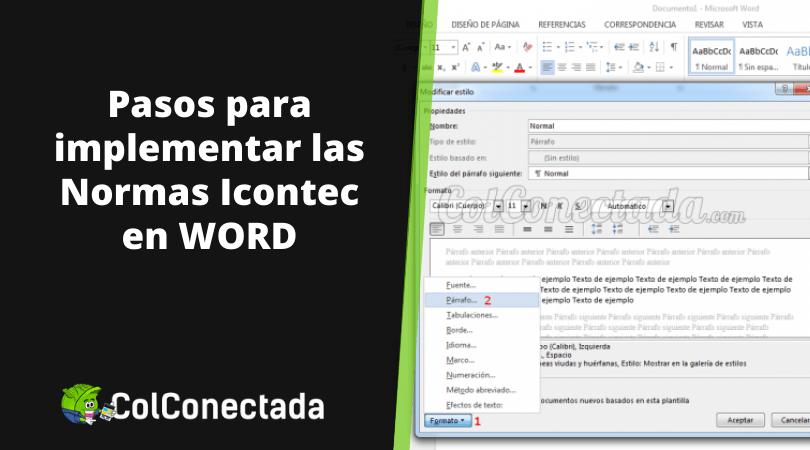 Cómo aplicar las Normas ICONTEC en Word 6