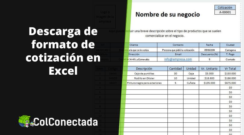 Formato de cotización en Excel y recomendaciones 20