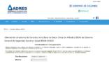 FOSYGA: Consulta de afiliados por Internet (ADRES)