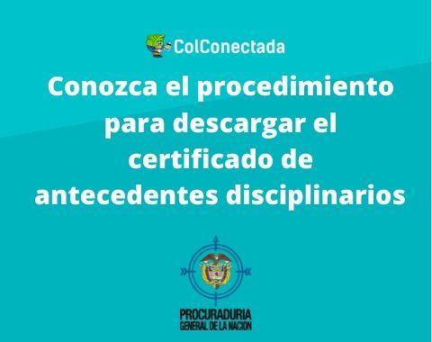Certificado de antecedentes disciplinarios
