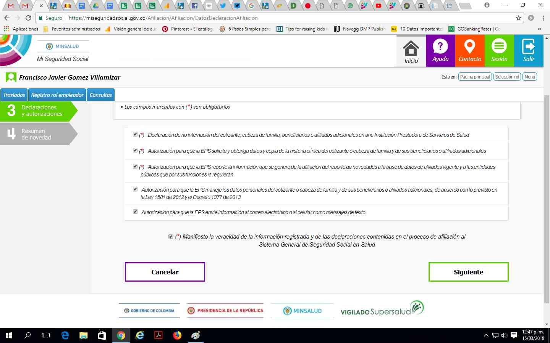 Pedir cambio de EPS por internet