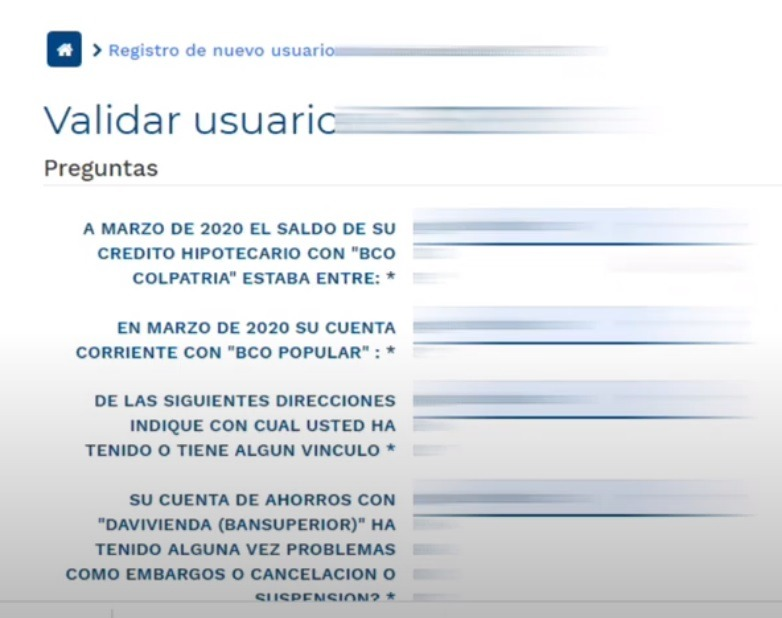 validar usuario Colpensiones