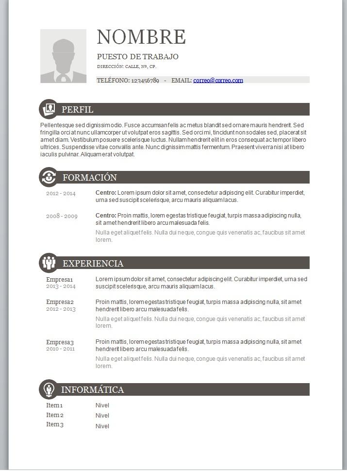 Ejemplo De Curriculum Vitae Y Recomendaciones