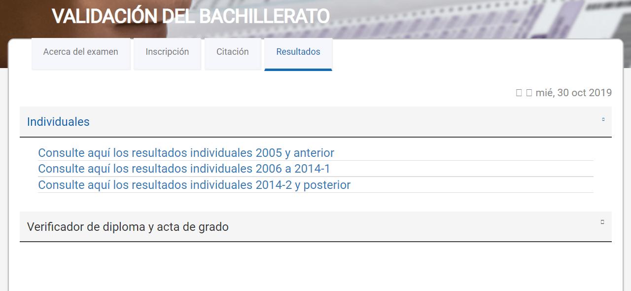 VALIDACIÓN DEL BACHILLERATO