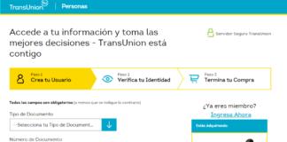 TransUnion Consultar Reporte de Crédito
