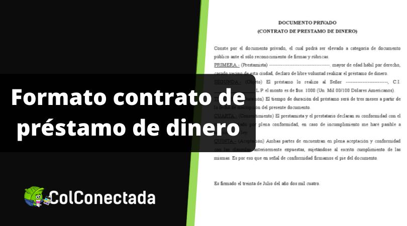 Formato contrato de préstamo de dinero 9