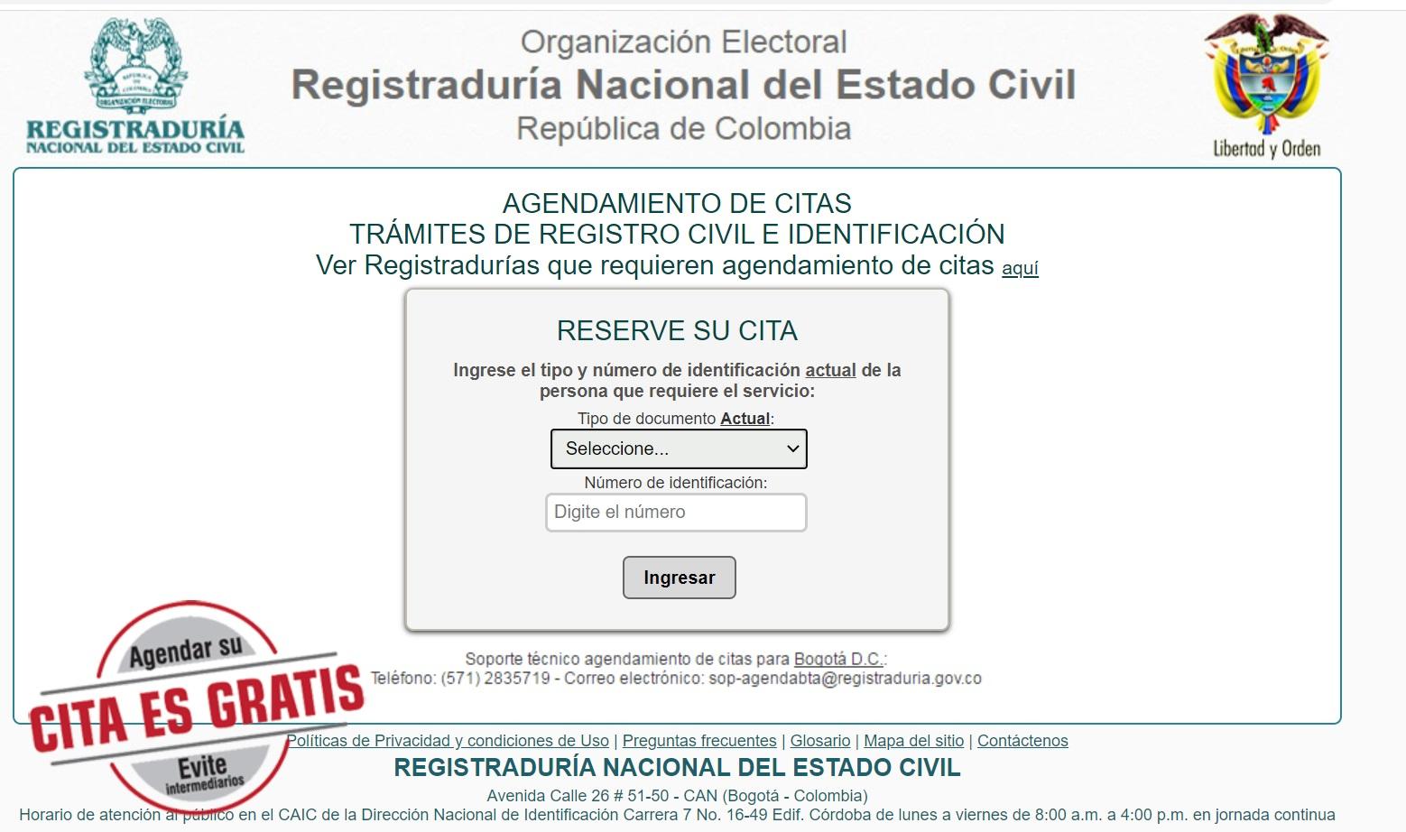 citas registraduria