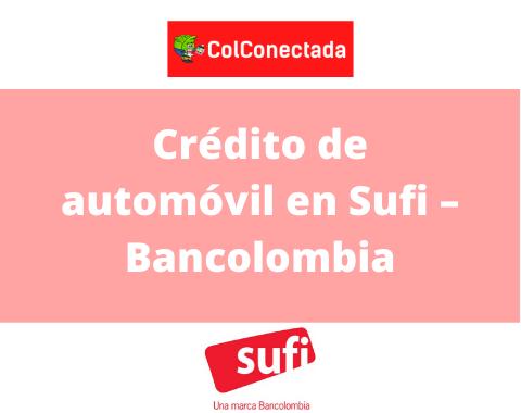 crédito de automóvil en Sufi
