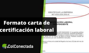 Carta de certificación laboral