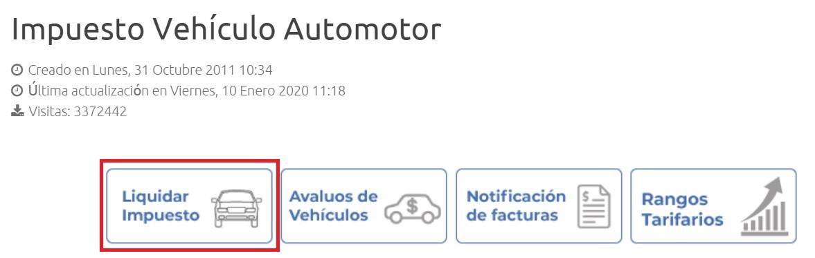 Impuesto vehículo de Barranquilla