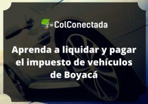 Liquidar impuesto de vehículos en Boyacá 2020 5