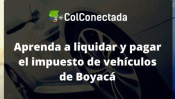 Impuesto vehículos en Boyacá 2020 4