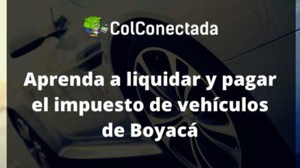 Impuesto vehículos en Boyacá 2020 3