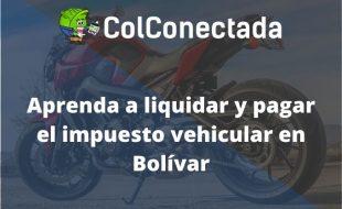 Impuesto vehículos en Bolívar 2021