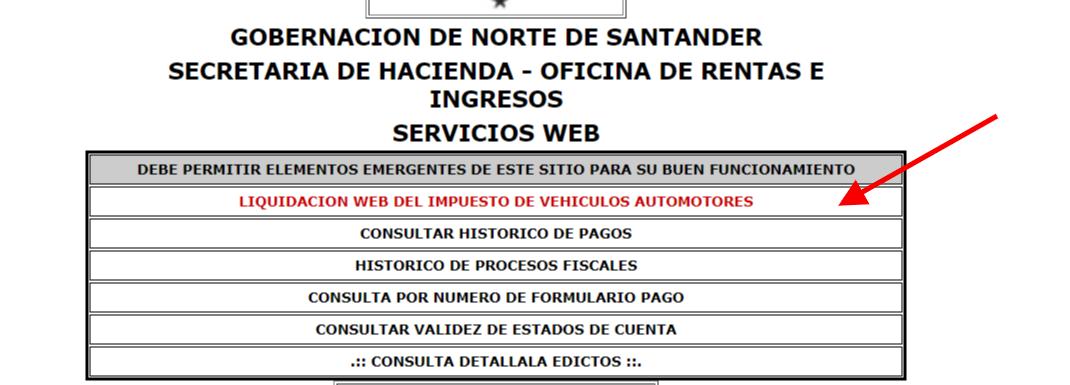 Impuesto de vehículos de Norte de Santander 2019