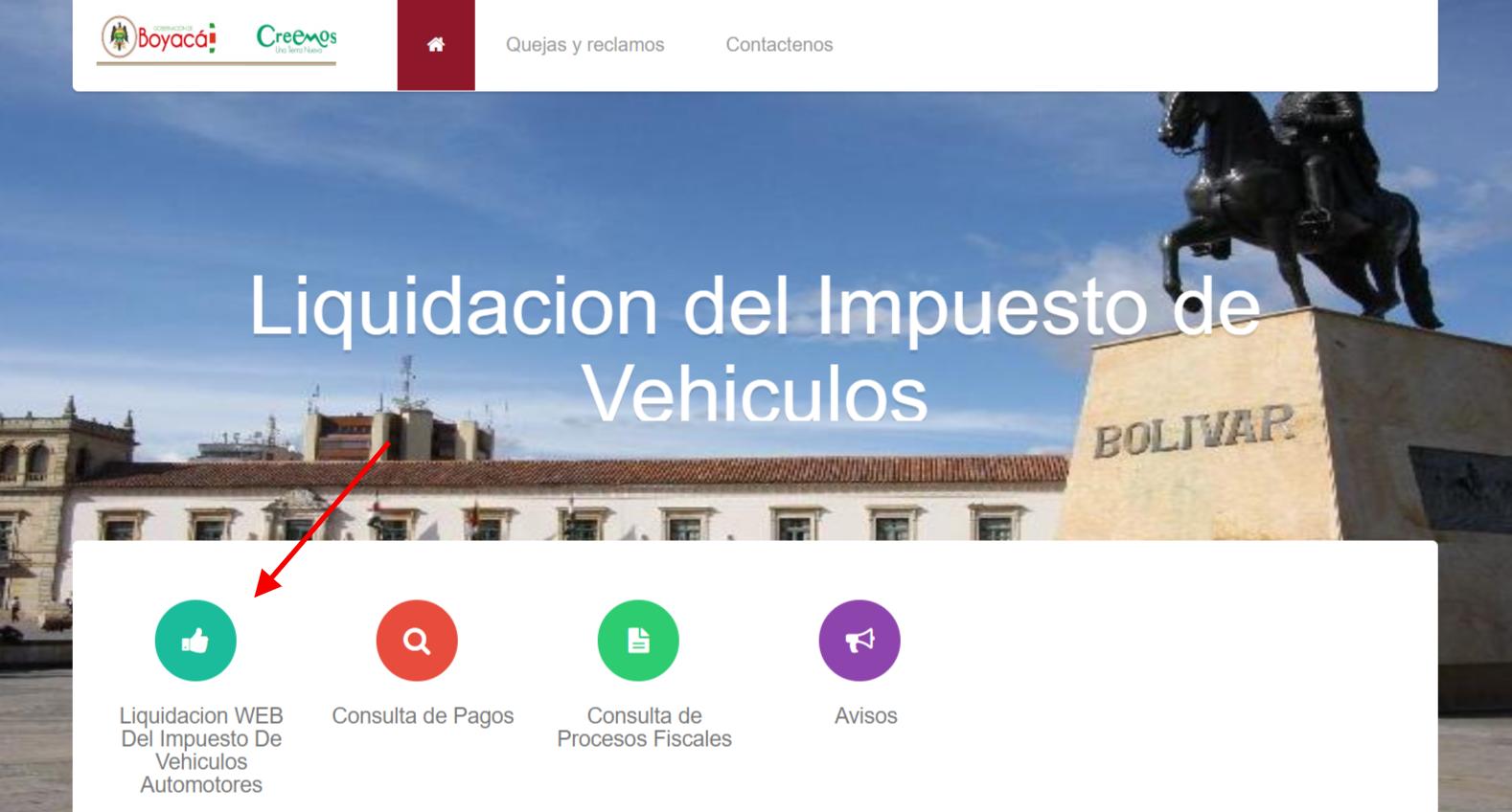 Impuesto de vehículos en Boyacá 2019