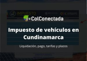 Impuesto vehículos en Cundinamarca 2021 1