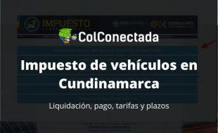 Impuesto vehículos en Cundinamarca 2020