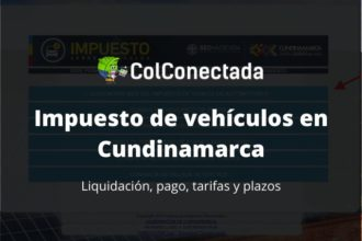 Impuesto vehículos en Cundinamarca 2020 5