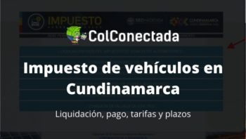 Impuesto vehículos en Cundinamarca 2020 3