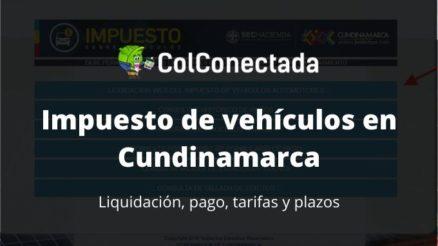 Impuesto vehículos en Cundinamarca 2020 1