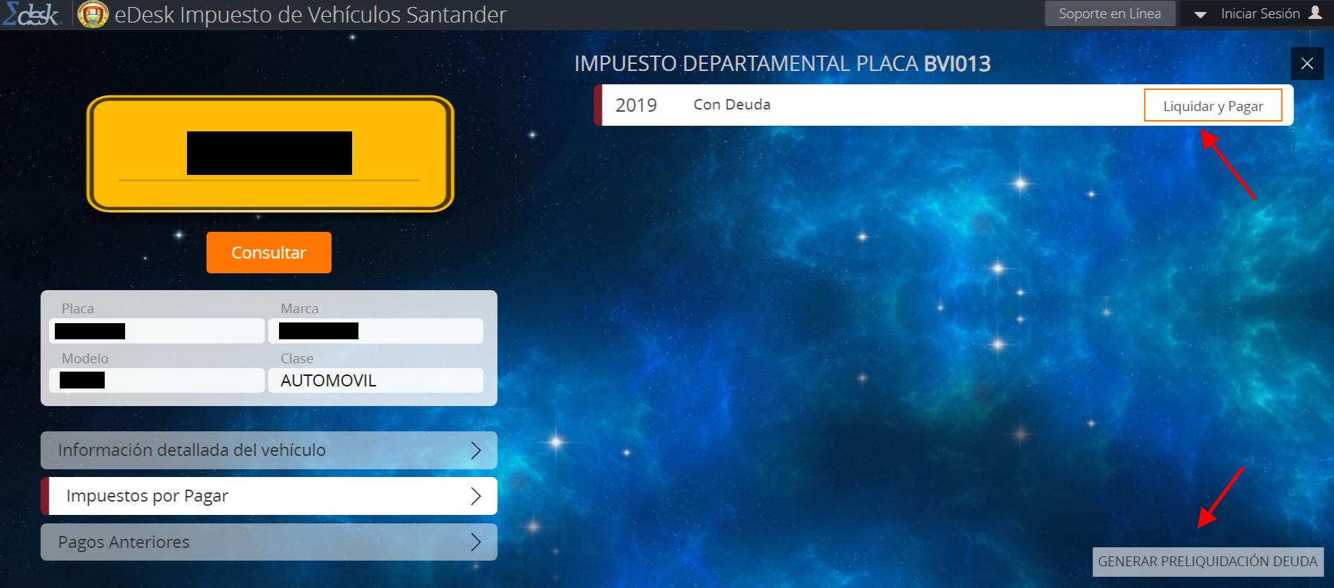 Impuesto de vehículos en Santander 2019