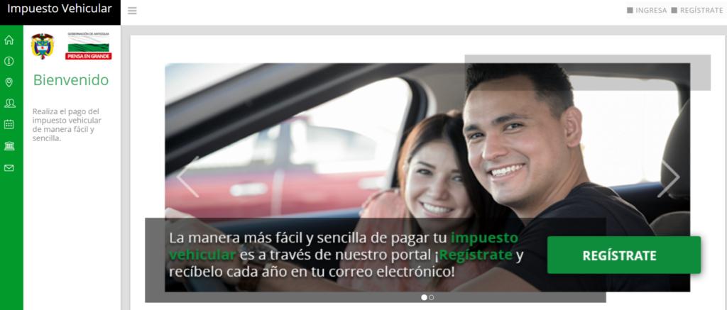 Impuesto vehículos en Antioquia 2019