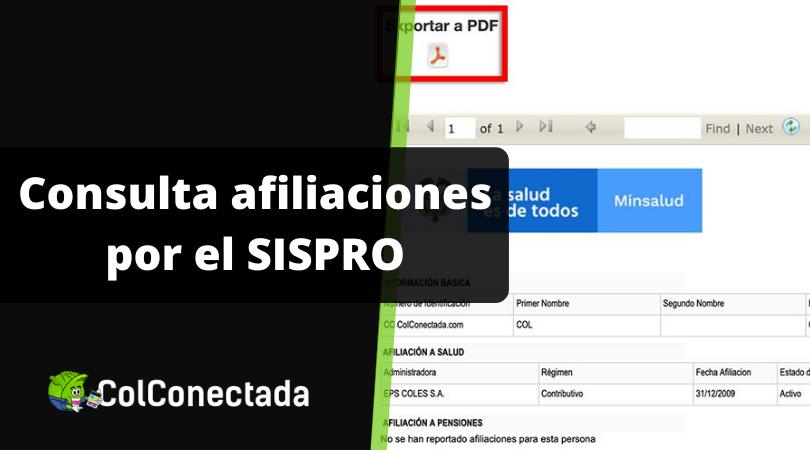 Consultar SISPRO y RUAF para conocer afiliaciones 5