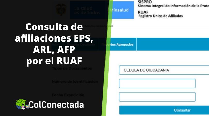 RUAF: Consulta de afiliaciones en salud, pensión o cesantías 10