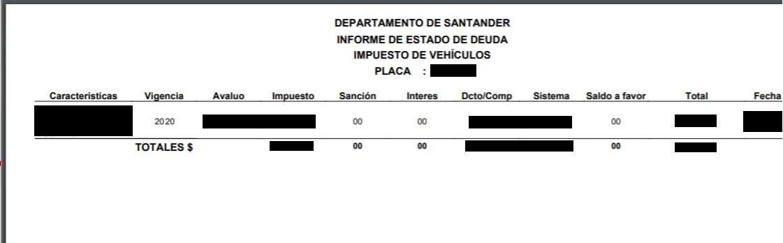 Impuesto de vehículos en Santander 2020