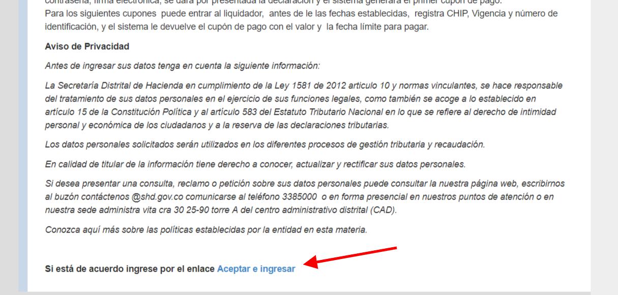 Pago impuesto predial Bogotá