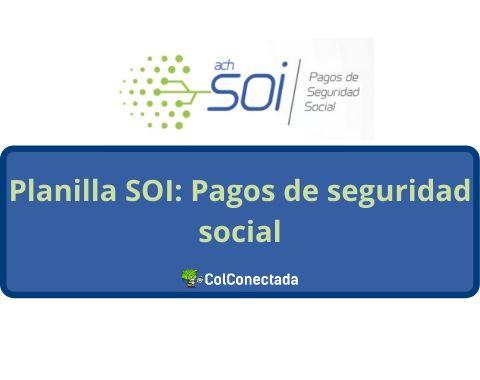 Planilla SOI Pagar seguridad social