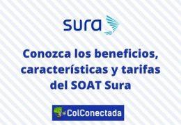 SOAT con SURA: Beneficios y tarifas