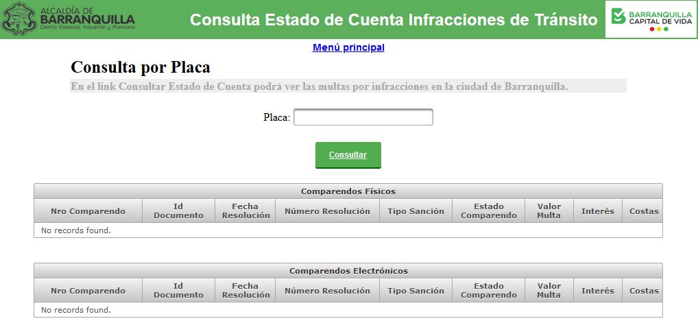 Consultar Estado de Cuenta podrá ver las multas por infracciones en la ciudad de Barranquilla